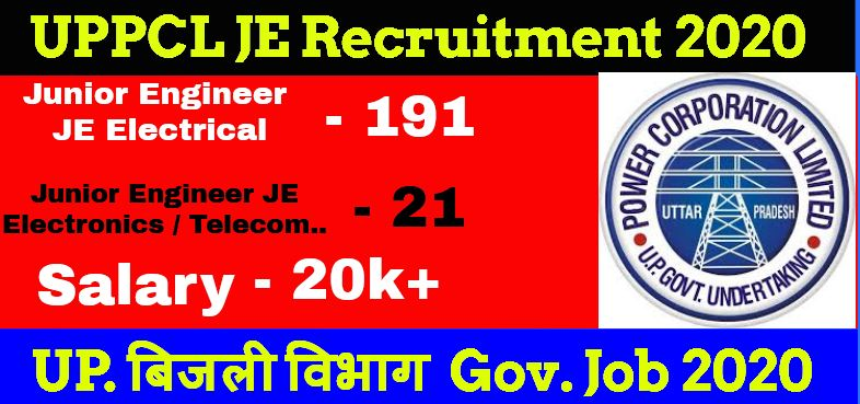 UPPCL JE Recruitment 2020