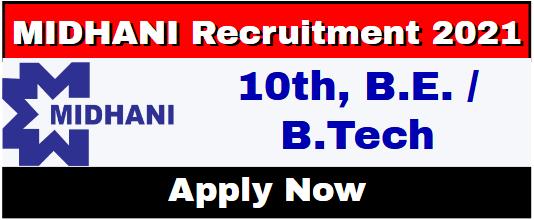 MIDHANI Recruitment 2021
