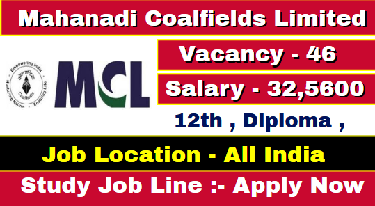 Mahanadi Coalfields Limited Recruitment 2021
